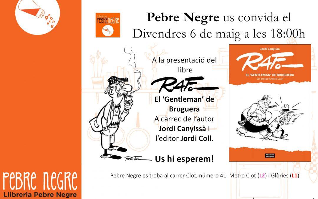 [DV 6/5, 18h] Presentació del llibre RAF. El «Gentleman» de Bruguera