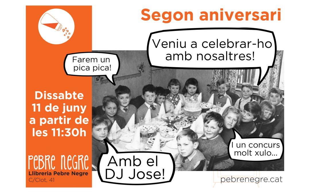 Segon aniversari de Pebre Negre! Dissabte 11 de juny a partir de les 11h30