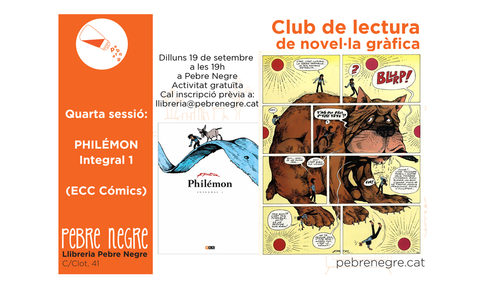 [DL 19/9/16, 19h] Club de còmic: Philémon Integral [4]