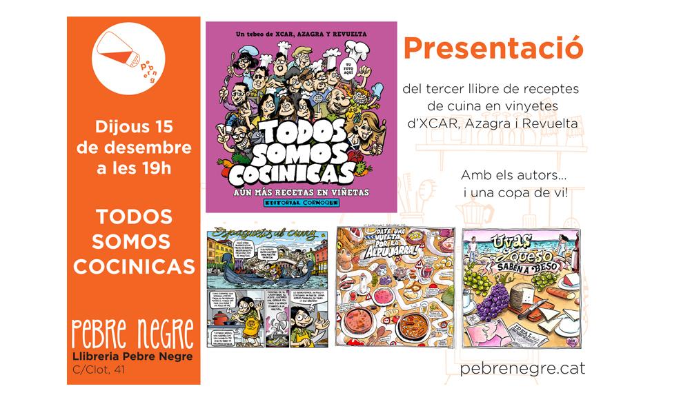 [DJ 15/12, 19h]Presentació del llibre Todos somos cocinicas