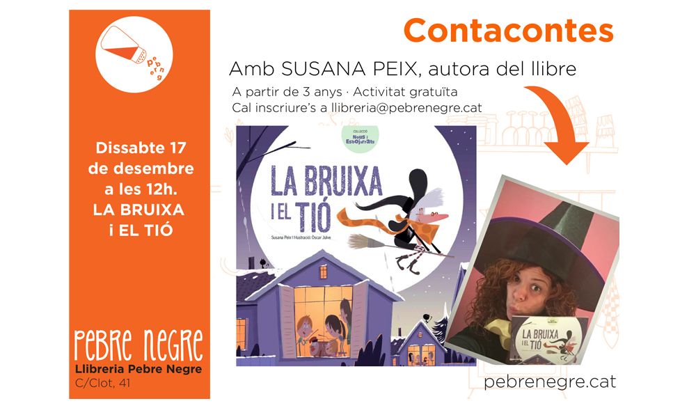 [DS 17/12, 12h] La bruixa i el tió, a càrrec de Susana Peix