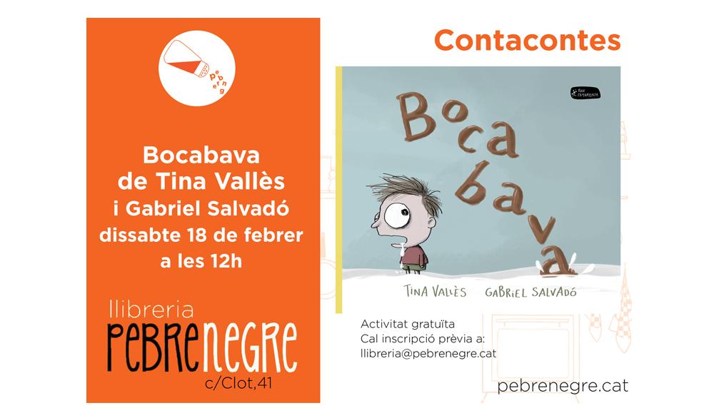[DS 18/2, 12h]Contacontes: Bocabava, de Tina Vallès i Gabriel Salvadó
