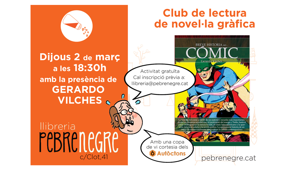 Resum de la desena sessió del Club de lectura de còmic [març 2017]