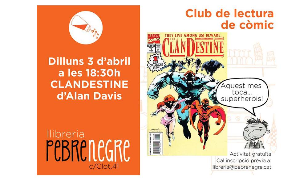 Resum de l'onzena sessió del Club de lectura de còmic [abril 2017]