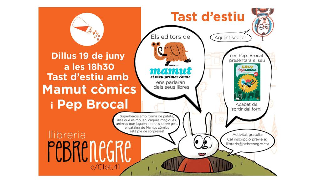 [DL 19/6/17, 18h30] Tast d'estiu amb Mamut Còmics i Pep Brocal