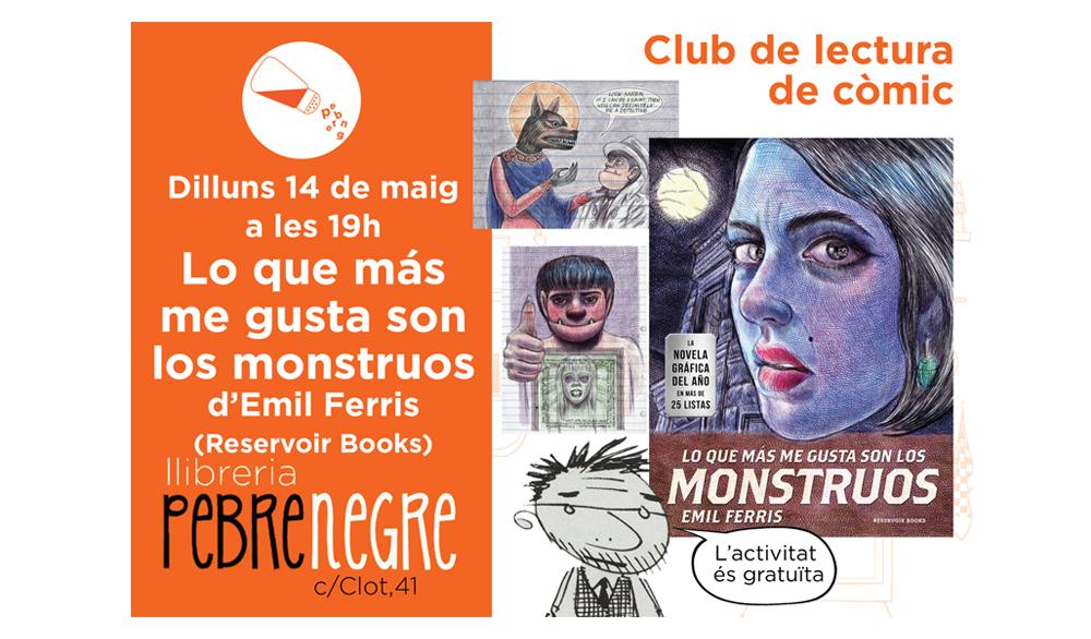 [DL 14/5/18, 19h] Club de còmic: Lo que más me gusta son los monstruos [23]
