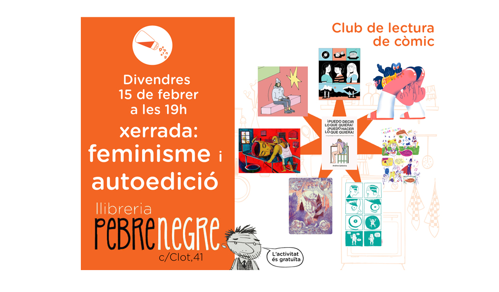 [DV 15/02/19, 19h] Club de còmic: Feminisme i autoedició [32]