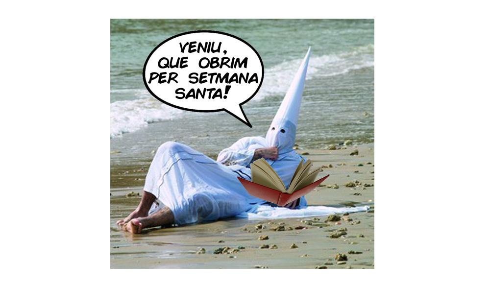 Horaris de Setmana Santa (sí, obrim!)
